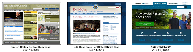 End of Term Web Archive: U S  Government Websites